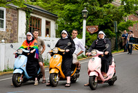 Vespa Riding Nuns and Friends