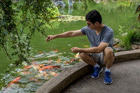 James with Koi