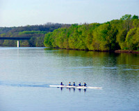 Scullers on the Delaware