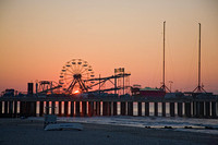 Steel Pier at sunrise