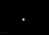 Jupiter and two of its moons 3/2/2015